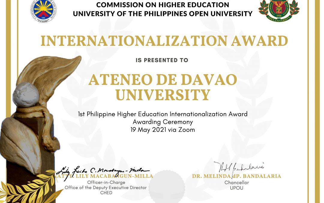 READ | CHED and UPOU Award ADDU's Internationalization Strategies