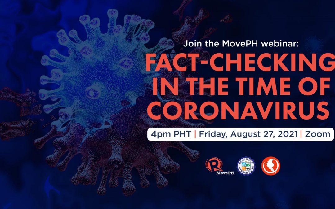 INVITATION | Fact-Checking in the Time of Coronavirus