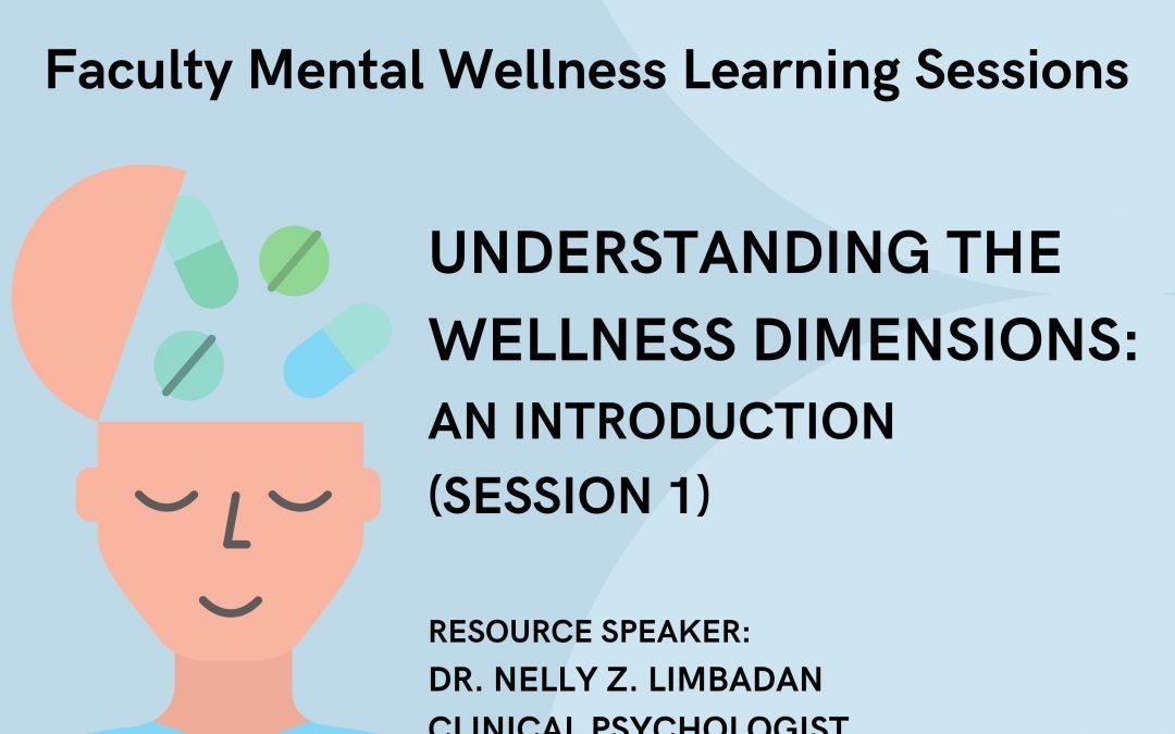 INVITATION |Understanding the Wellness Dimensions